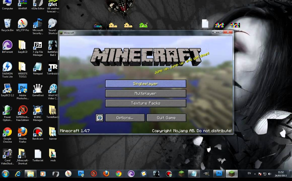 Minecraft Skin Tutorial How to Edit char.png mob using Photoshop or FREE  Gimp editor