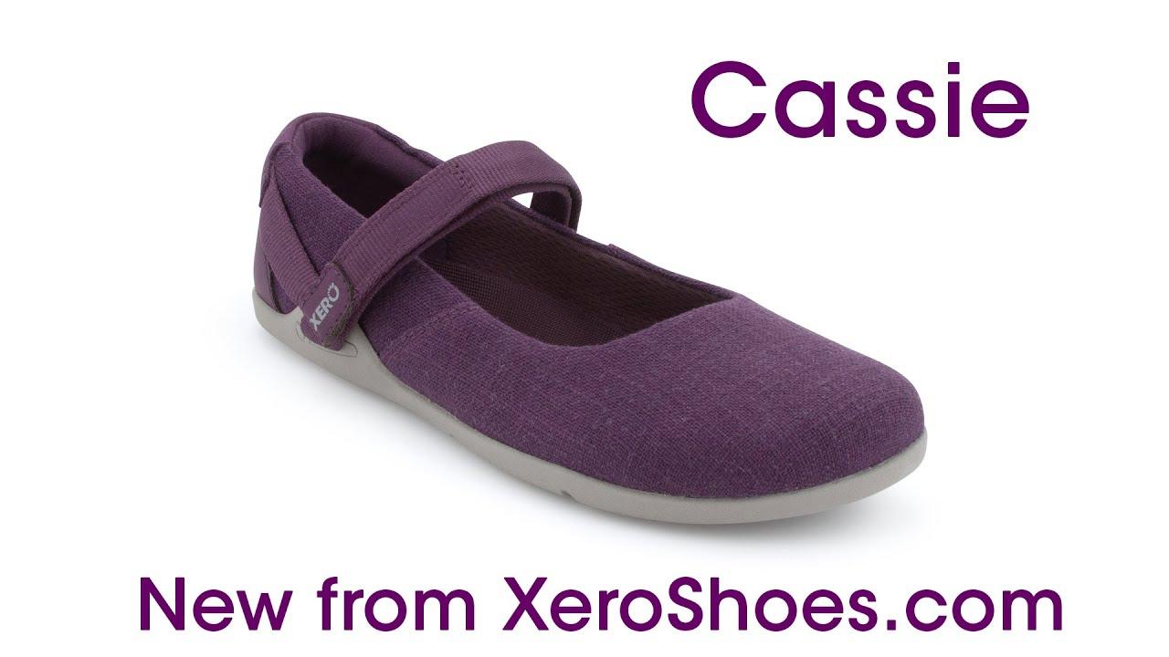 A MaryJane style minimalist hemp canvas shoe - Cassie by Xero Shoes