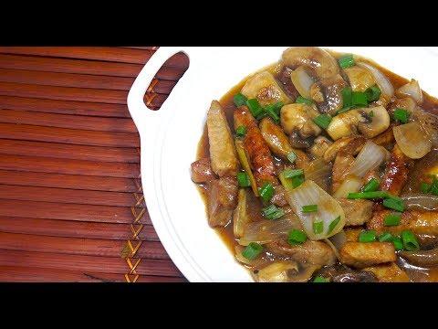 🔴 Chinese Restaurant Style Pork Mushroom - Garlic Ginger Gravy Pork - Chinese Pork & Mushroom