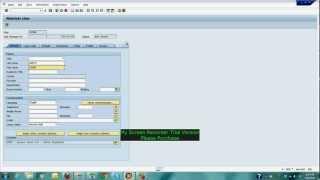 SAP Training how to create user using SU01