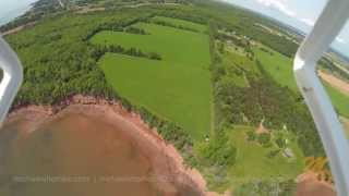 Rice Point Prince Edward Island Waterfront for sale Aerial HD Video GoPro south of Charlottetown PEI
