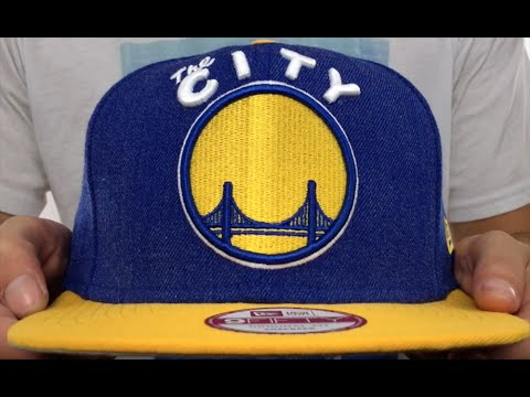 Warriors  LOGO GRAND SNAPBACK  Royal-Gold Hat by New Era - YouTube e93f48998f3f