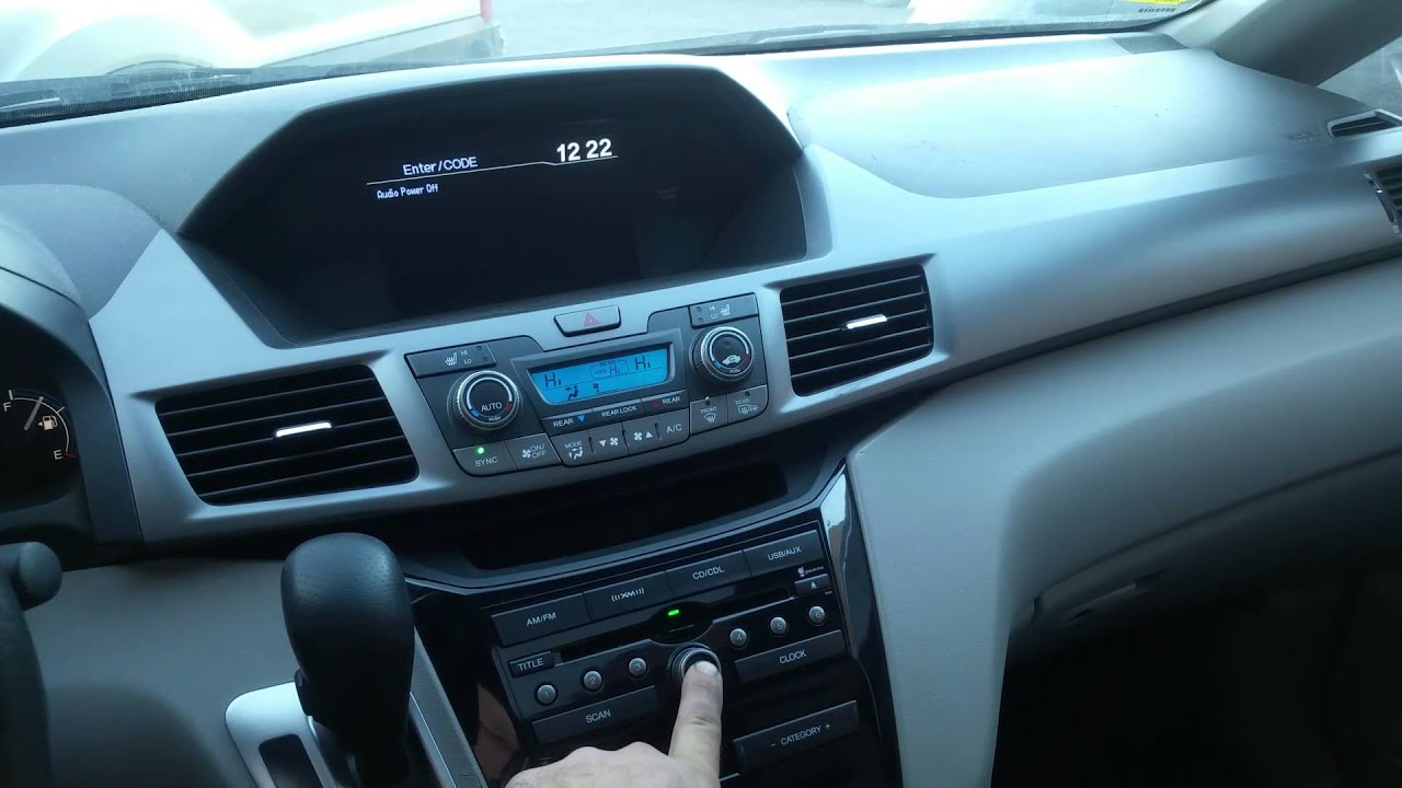 How To Bypass Unlock Radio With Out Entering Code On Honda