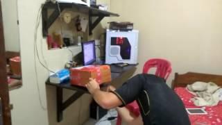 Unpack box: arowana baby golden red 12cm. 6 december 2016