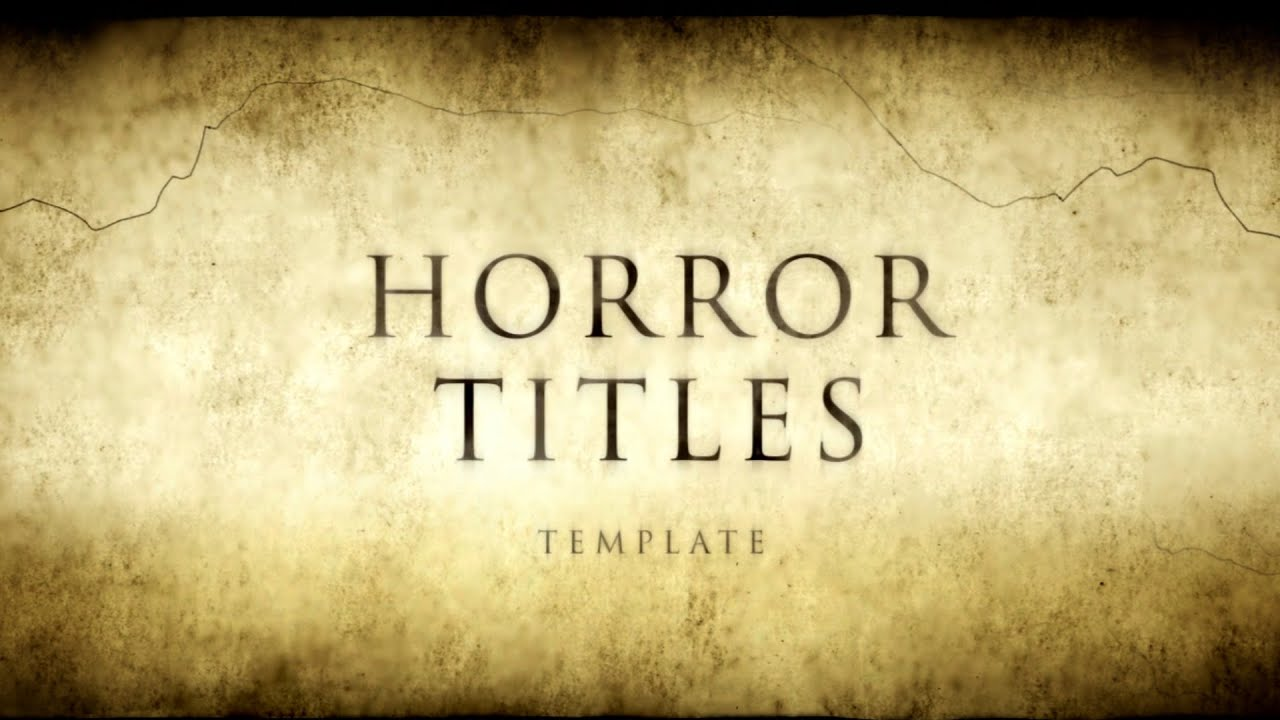 horror movie titles - after effects template