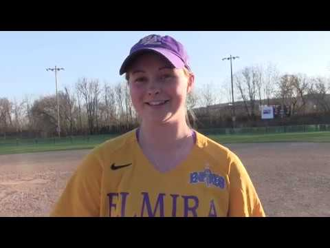 Elmira College Softball Post-game Interview with Maddy Johnson '19