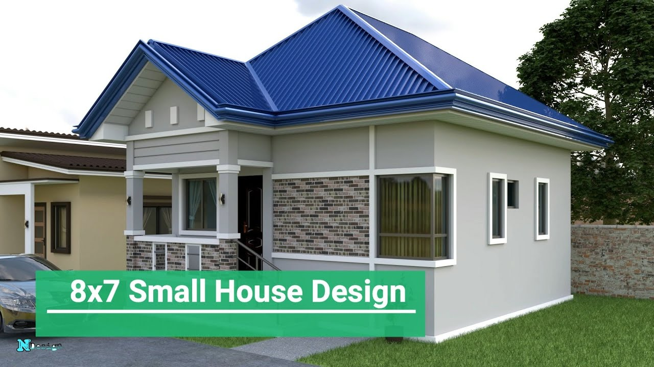 Small House Design 8x7 Meter Youtube