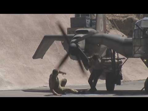 Indiana Jones Stunt Show Accident - Indy Hit By Propellor in Slow Motion