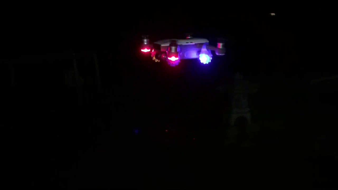 Flashing LED lights on DJI Spark drone