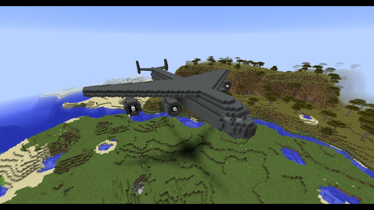 Minecraft TUTO Avion Militaire Bombardier YouTube