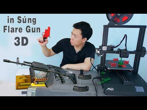 Mở Hộp Máy In 3D Giá Rẻ - Dùng Máy In 3D in Súng Flare Gun 1:1 Như Thật ( Anet 3d printer ET4 Pro )