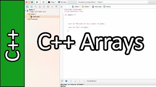 Introduction to Arrays - C++ Programming Tutorial #27 (PC / Mac 2015)