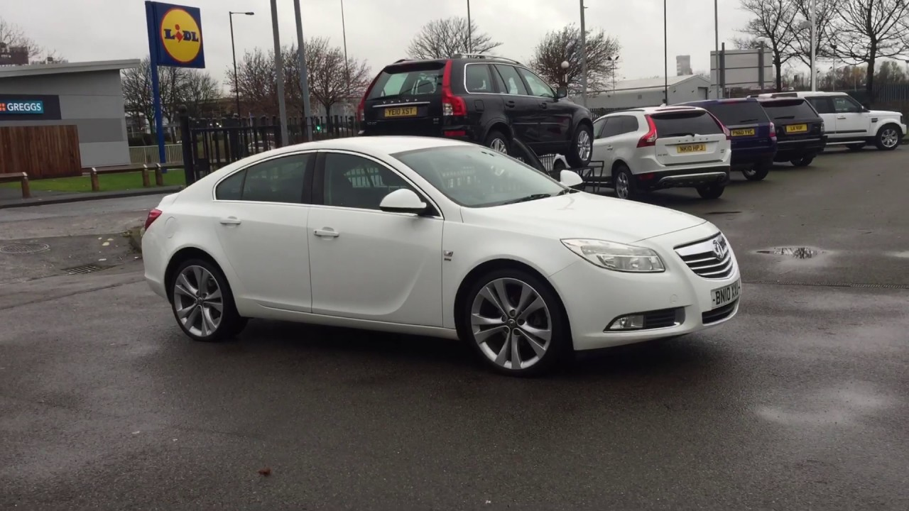 2010 white vauxhall insignia 2 0 cdti 16v sri 5dr 20 wheels full leather youtube. Black Bedroom Furniture Sets. Home Design Ideas