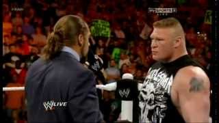 WWE BROCK LESNER BROKE TRIPLE H ARM HD
