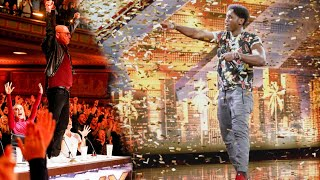 'America's Got Talent': Howie Mandel Hops on Judges' Table to Give Golden Buzzer to Inspiring Sin…