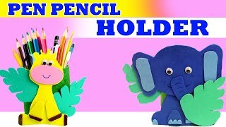 PEN PENCIL HOLDER   Easy to make from waste   Organiser School Stationery