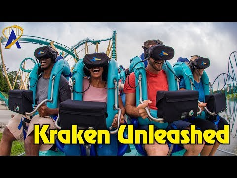 Kraken Unleashed Virtual Reality Roller Coaster Highlights at SeaWorld Orlando