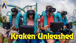 Kraken Unleashed Virtual Reality Roller Coaster Highlights at SeaWorld Orlando