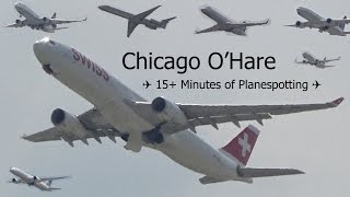 (HD) 15+ Minutes of Planespotting at Chicago O