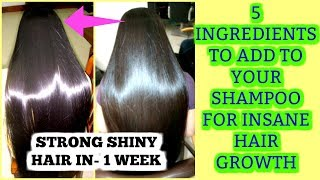 MIX THESE 5 INGREDIENTS IN YOUR SHAMPOO FOR FAST HAIR GROWTH | SuperPrincessjo