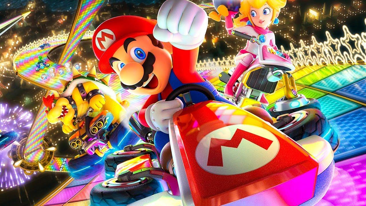 Mario Kart 8 Deluxe Racing Car Game Cartoon For Kids Nintendo Switch Online Multiplayer Youtube