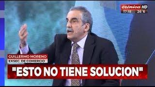 Guillermo Moreno con Mauro Federico y Natalia Vaccarezza en Cronica TV 05/11/18