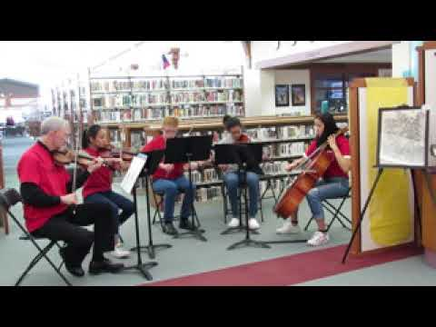 Chamber Group at Albuquerque Academy - playing for Open House