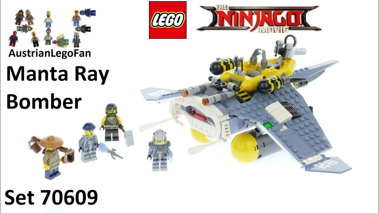 f057589f8 Lego Ninjago Movie 70609 Manta Ray Bomber - Lego Speed Build Review ...
