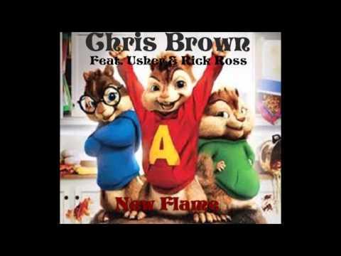 CHIPMUNKS Chris Brown  New Flame feat Usher & Rick Ross