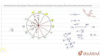 A clock face has charges `-q, -2q, ,.....-12q` fixed at the position of the corresponding numera...