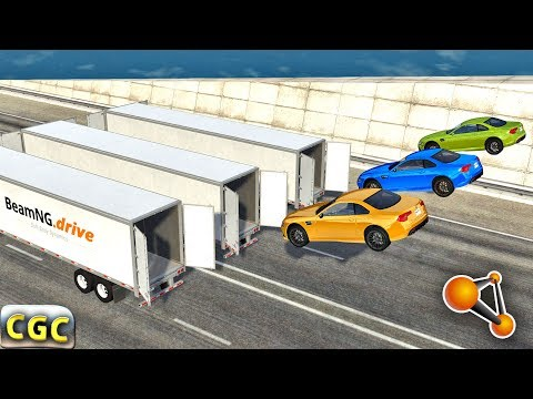 Open Cargo Doors on Truck and Trailer car Speeding Crashes B