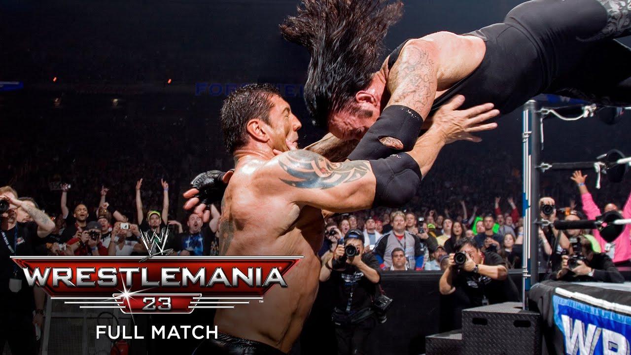 Download FULL MATCH - Batista vs. The Undertaker – World Heavyweight Title Match: WrestleMania 23