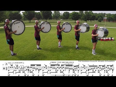 2018 Cadets Basses  LEARN THE MUSIC to Demonic Thesis