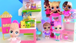 DOLL LOL SURPRISE CARTOONS! New Dress in LOL Surprise & Shopkins Store!
