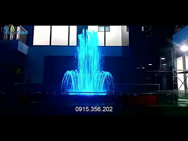 Garden musical fountain - Happy Birthday to You song -