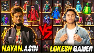 LokeshGamer Vs NayanAsin Collection Battle With Global Top 1 Richest Player 😱 - Garena Free Fire