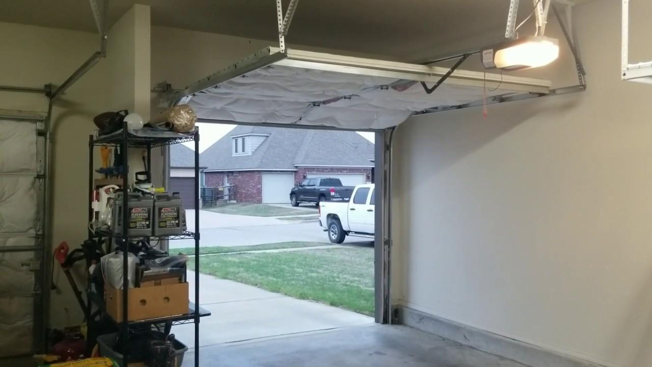 How To Fix Garage Door That Jerks When Opening Youtube