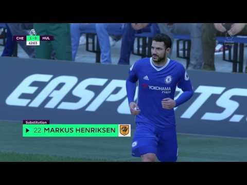 Simulation Preview of Chelsea vs Hull City 2017 (FIFA 17 prediction)