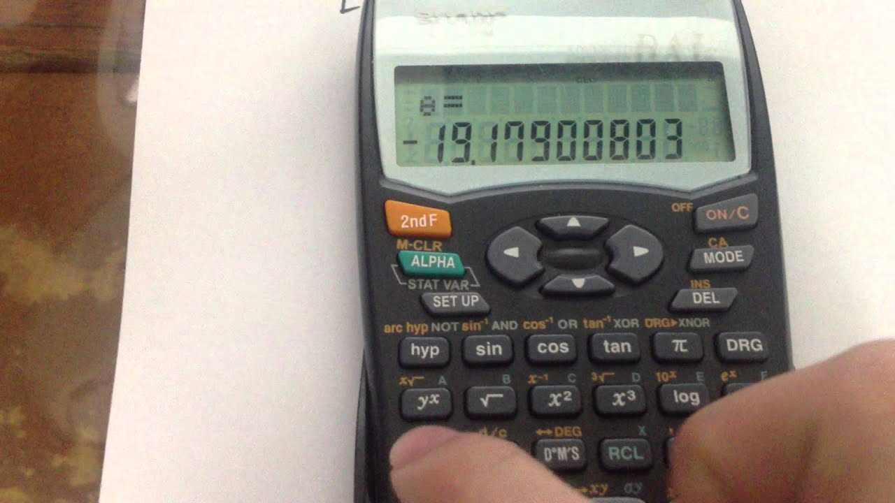 How to Convert polar to rect using sharp calculator - YouTube