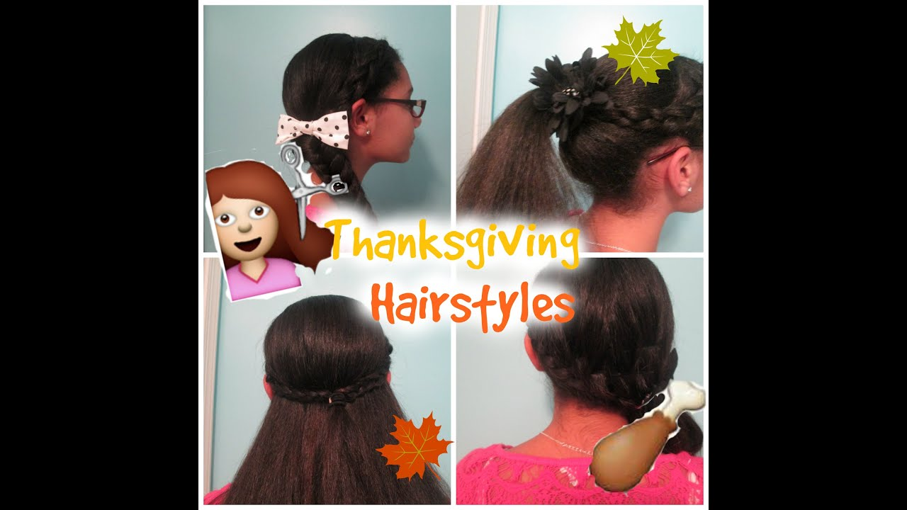 Cute And Easy Thanksgiving Hairstyles! YouTube