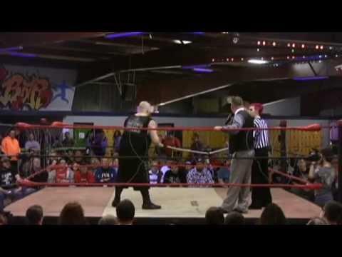 "IWA Mid South: ""Bulldozer"" Matt Tremont vs John Wayne Murdoch [Barbwire Ropes/Texas Bullrope]"