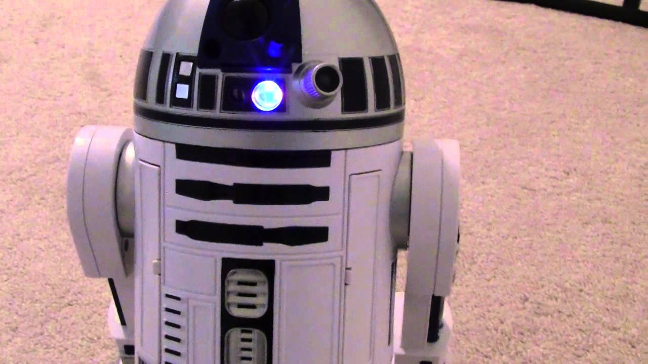 Star wars r2d2 robot youtube - Robot blanc star wars ...