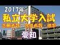 私立 大学入試 志願者数・合格者数・倍率 【愛知2017】