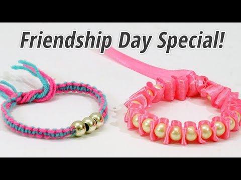 DIY Friendship Bracelets : How to Make Friendship Band at Home   How to Make Rakhi at home