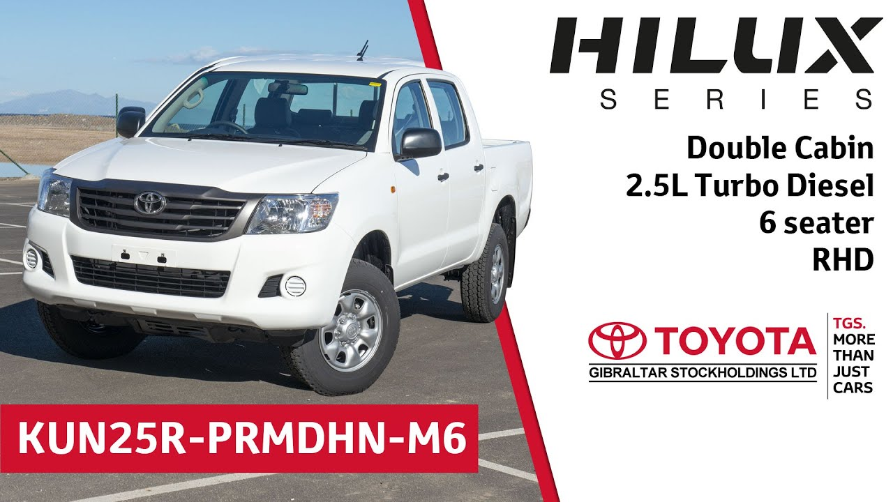 Toyota Hilux Double Cabin 2 5l Turbo Sel 6 Seater Rhd