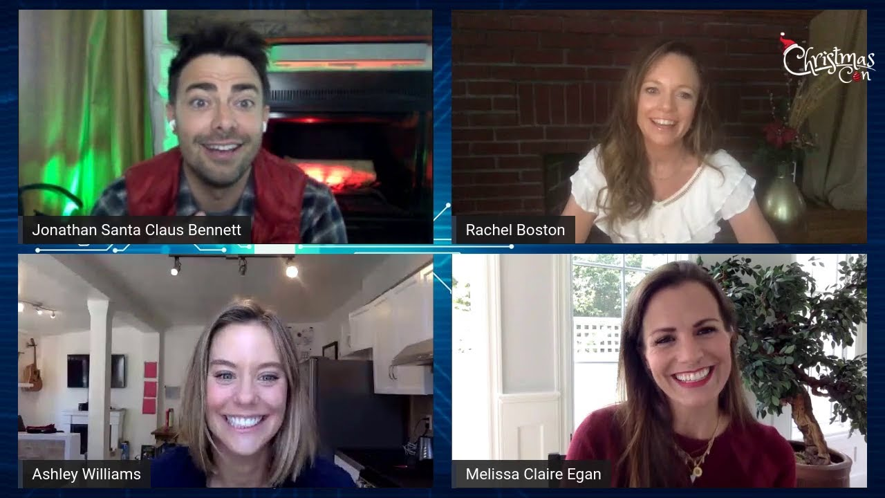 CHRISTMAS VIRTUAL CON - Panel Hosted by Jonathan Bennett. Ashley Williams & Melissa Claire Egan.