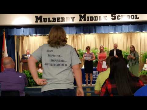 Mulberry Middle School Award Ceremony