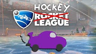 Zombey spielt Hockey mit seinem Auto.