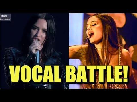 Ariana Grande vs Demi Lovato 2018 VOCAL BATTLE!!!