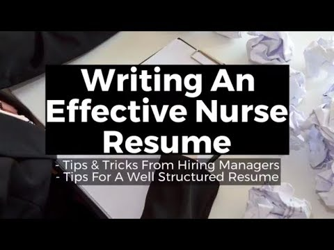 Nurse Resume: Writing A Effective Resume